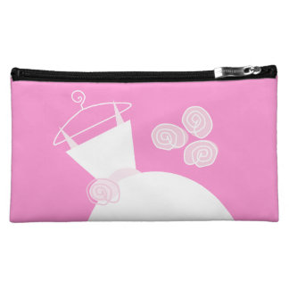 Wedding Gown Pink 'Maid of Honor' Cosmetics Bags