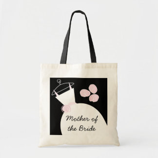 Wedding Gown Pink 'Mother of the Bride' black Budget Tote Bag