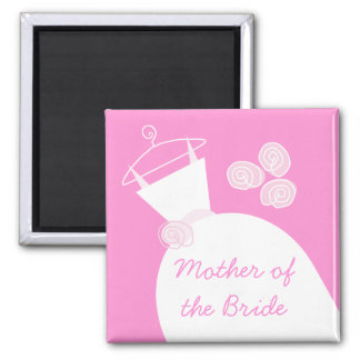 Wedding Gown Pink 'Mother of the Bride' Magnet