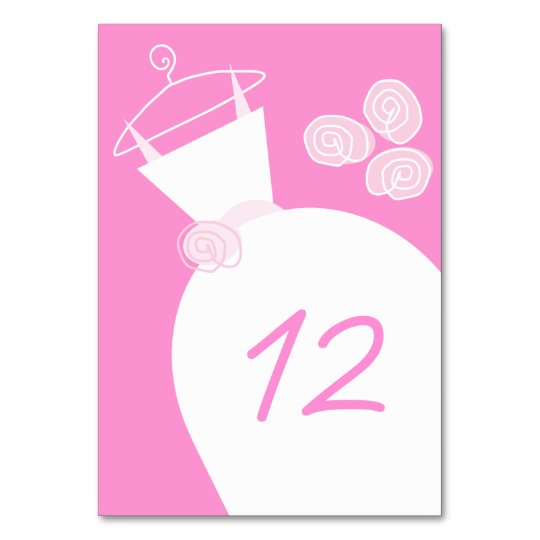 Wedding Gown Pink table card