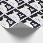 Wedding Gown Purple 'Bridal Shower' black pastel Wrapping Paper