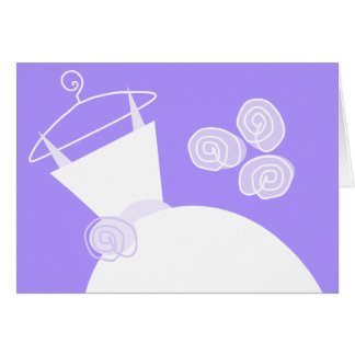 Wedding Gown Purple horizontal Card