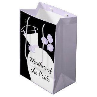 Wedding Gown Purple Mother Bride black pastel med Medium Gift Bag