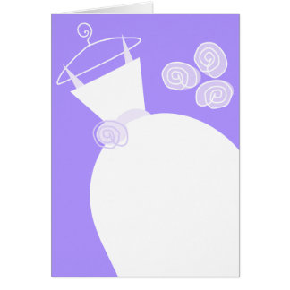 Wedding Gown Purple  vertical Card