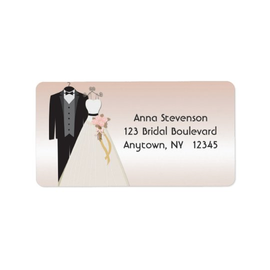 Wedding Gown, Tuxedo Peach Label