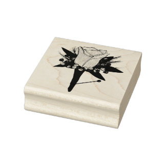 Wedding Groom Prom Date Rose Boutonniere Flower Rubber Stamp