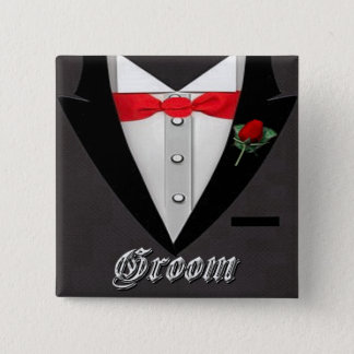 Wedding Groom Tuxedo Button