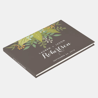 Wedding Guest Book, Boho Floral, garden wedding Guest Book