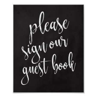 Wedding Guest Book Chalkboard 8x10 Sign
