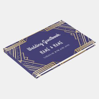 Wedding Guest Book Gatsby Art Deco 1920's Gold