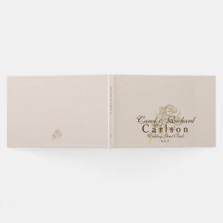 Wedding Guest Book-Golden Rose Guest Book