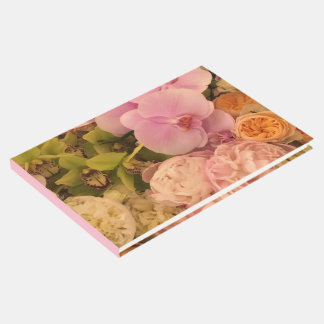 Wedding guest book - Orchid and Peony