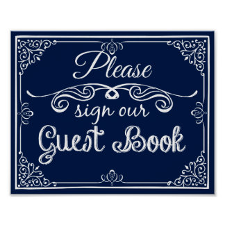 Wedding  guest book sign print