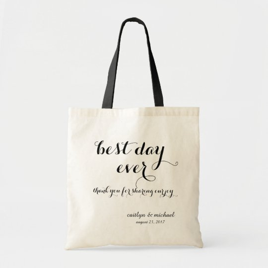 Wedding Guest Welcome: best day ever Tote Bag