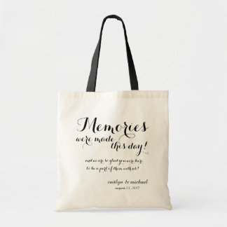 Wedding Guest Welcome: MEMORIES Tote Bag
