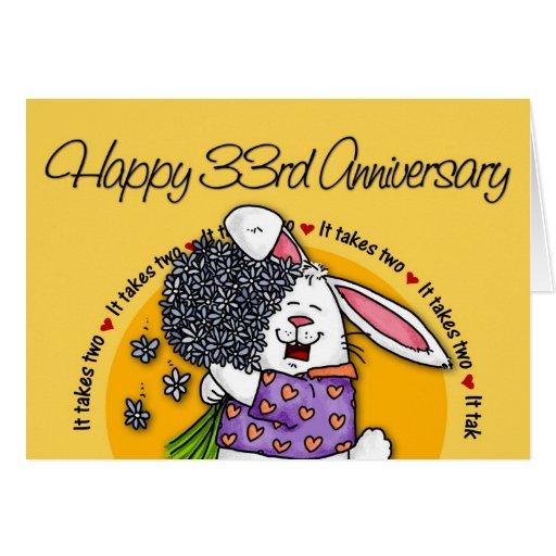 33rd Wedding Anniversary Gift: Wedding - Happy 33rd Anniversary Card
