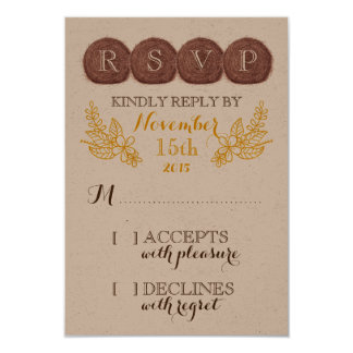 Wedding Hay Bales RSVP Card