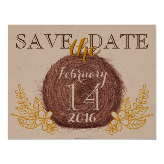 Wedding Hay Bales SAVE THE DATE Card