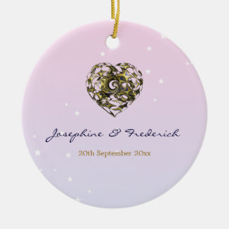 Wedding Heart Ceramic Ornament