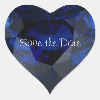 Wedding Heart Sapphire Sticker