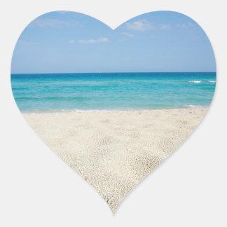 Wedding Hearts Beach Wedding Sandy Shore Ocean Heart Sticker