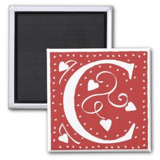 Wedding Hearts Letter Magnet