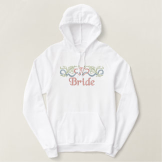 Wedding Hearts Romance Embroidered Hoodie