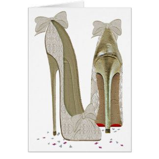 Wedding High Heels Art Card