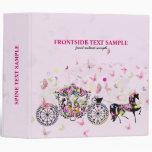 Wedding Horse & Carriage Flowers & Butterflies 3 Ring Binders