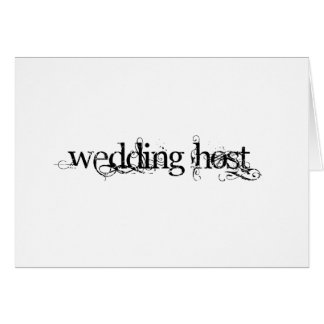 Wedding Host Card