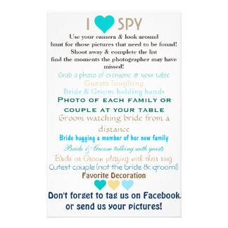 Wedding I Spy Custom Flyer