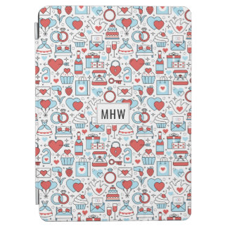 Wedding Icons custom monogram device covers iPad Air Cover