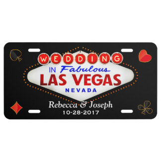 Wedding in Fabulous Las Vegas Getting Married License Plate