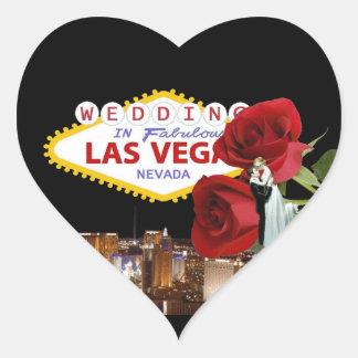 Wedding In Fabulous Las Vegas Roses with Bride & G Heart Sticker