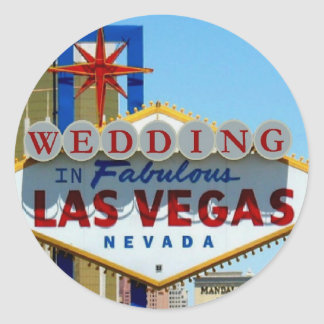 WEDDING IN FABULOUS LAS VEGAS Sticker