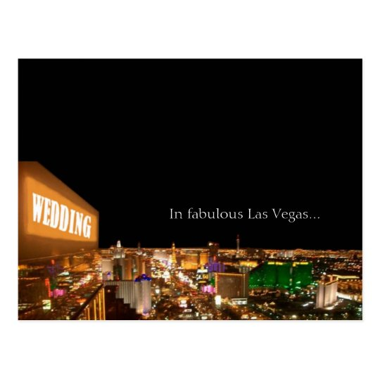WEDDING In fabulous Las Vegas Strip Postcard