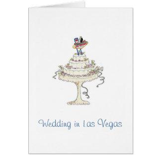 Wedding in Las Vegas Bride & Groom, Cake Card