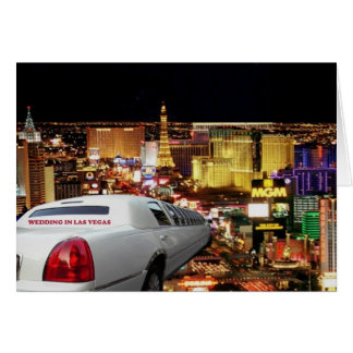 WEDDING IN LAS VEGAS LIMO Card