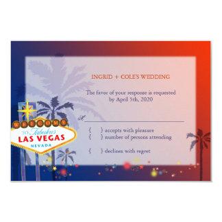 Wedding in Las Vegas Nevada RSVP Card