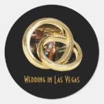 Wedding in Las Vegas Wedding BandsSticker Classic Round Sticker
