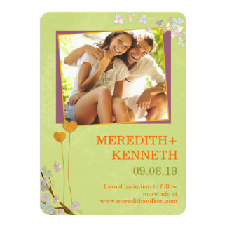 Wedding in Spring Garden Photo Save the Date Card