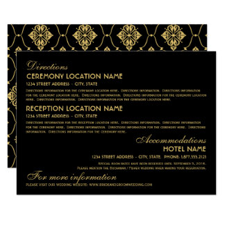 Wedding Information Card | Art Deco Elegant Style