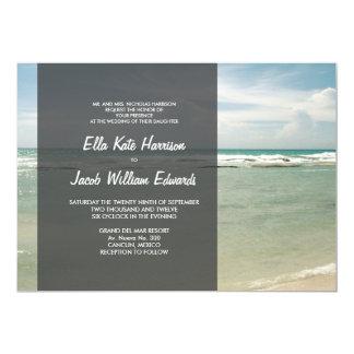 "Wedding Invitation 5x7 // Modern Beach Collection 5"" X 7"" Invitation Card"