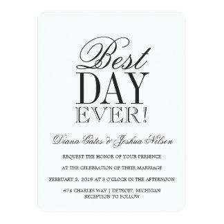 Wedding Invitation | BEST DAY EVER
