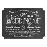 Wedding Invitation | Black Chalkboard Charm Custom Announcement