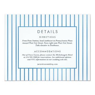 Wedding Invitation *Blue Garden* Details Card