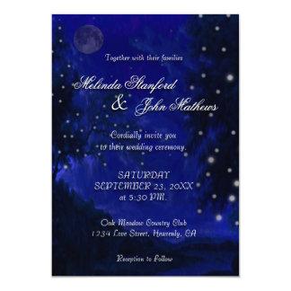 Wedding Invitation | Blue Romantic Night