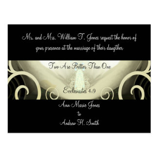Wedding Invitation Cala Lily Postcard