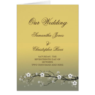 Wedding Invitation cards with blossoms