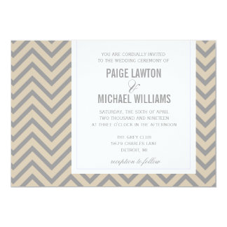 Wedding Invitation | Chevron